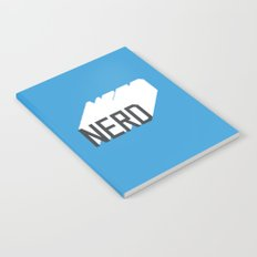 Retro Nerd Blue Notebook