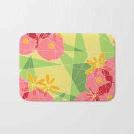 Floral Cubed Bath Mat