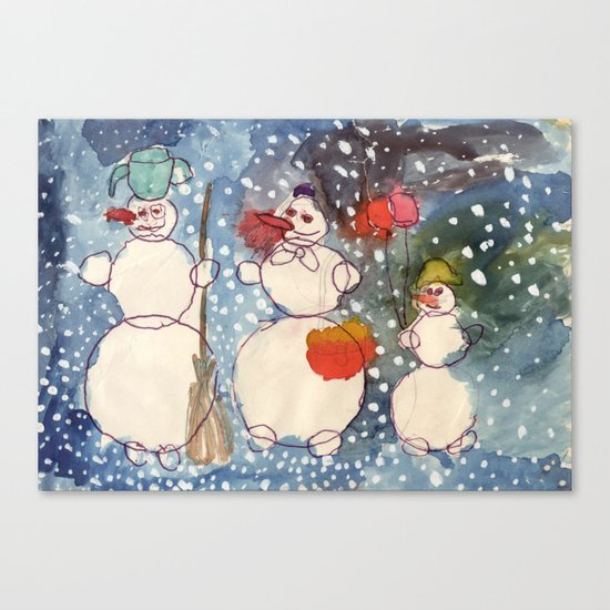 Frozen Family Canvas Print