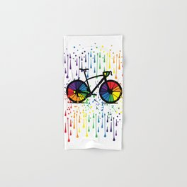 Rainbow raindrops Hand & Bath Towel