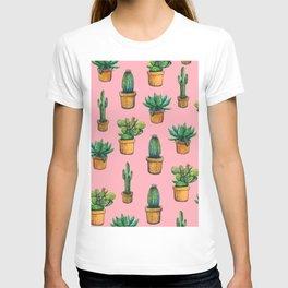 Indoor pink cactus T-shirt