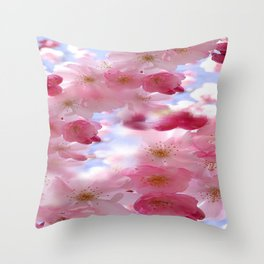 Floral Heaven Throw Pillow