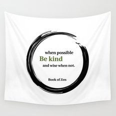 Zen Kindness & Wisdom Quote Wall Tapestry