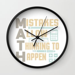 Mistakes allow Thinking to happen Wall Clock