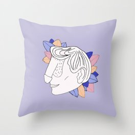 Dickface III Throw Pillow