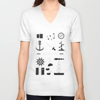 ouat V-neck T-shirts featuring OUAT - A Pirate by Redel Bautista
