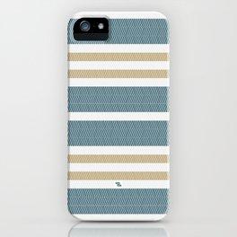 HERRINGBONE STRIPE VI - BLUE LAGOON iPhone Case