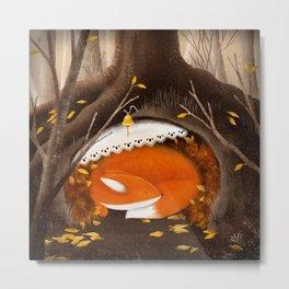 Sleeping Fox, Hibernation Metal Print