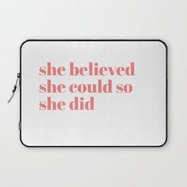 she believed Laptop Sleeve