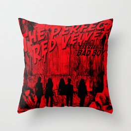 """The Perfect Red Velvet """"Bad Boy"""" Throw Pillow"""