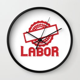 Genius begins with great works; labor alone finishes them Wall Clock