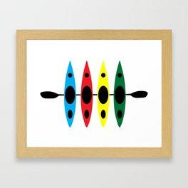 Four Kayaks | DopeyArt Framed Art Print