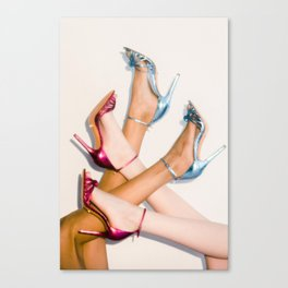 Blue and Pink Heels Canvas Print