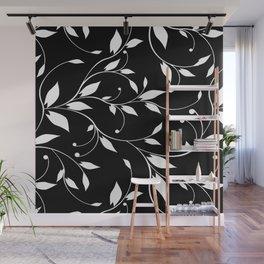 FLOWERY VINES | black white Wall Mural