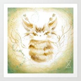 Ghostkitten Art Print