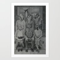 politics Art Prints featuring Office Politics by LeeBoydArtist
