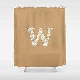 Floral Letter W Shower Curtain