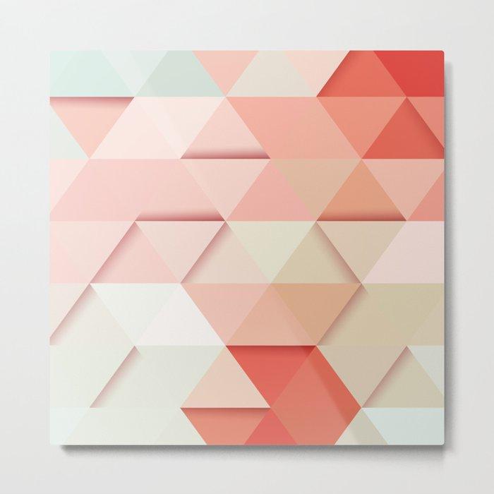 Pink Triangles Metal Print