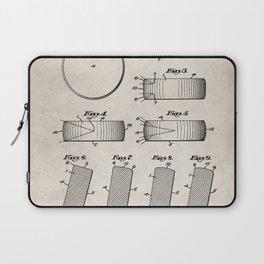 Ice Hockey Patent - Hockey Puck Art - Antique Laptop Sleeve