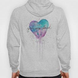 Watercolor Love Heart Hoody
