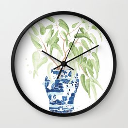 Ginger Jar + Eucalyptus Wall Clock