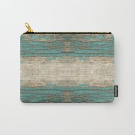 Rustic Wood - Weathered Wooden Plank - Beautiful knotty wood weathered turquoise paint Carry-All Pouch
