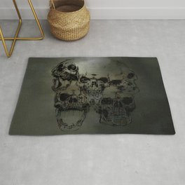 Dark abstract skull Rug