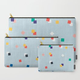 Here and Square Pattern Carry-All Pouch