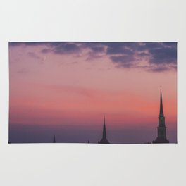 Steeples in the Sunset Rug