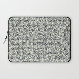 Giant money background 100 dollar bills / 3D render of thousands of 100 dollar bills Laptop Sleeve