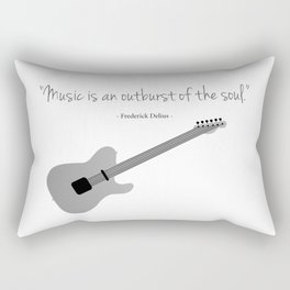 Guitars with a famous quote. Music is an outburst of the soul by Frederick delius Rectangular Pillow