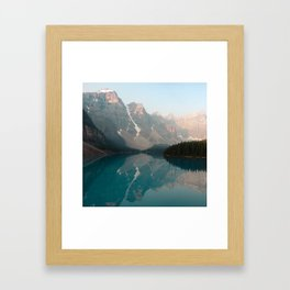 Sunrise over Moraine Lake Framed Art Print