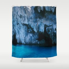 NATURE'S WONDER #3 - BLUE GROTTO #art #society6 Shower Curtain