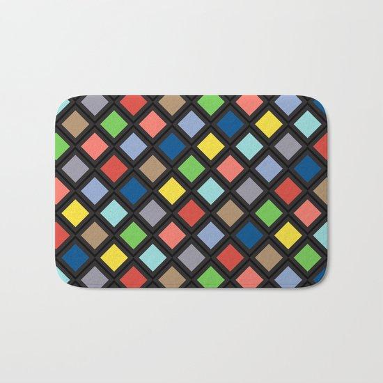 Colorful Geometric Pattern IV Bath Mat