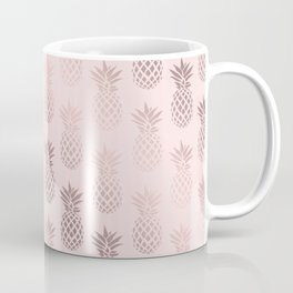 Girly rose gold & blush pink pineapple pattern Coffee Mug