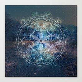 Sacred Geometry Universe X Canvas Print