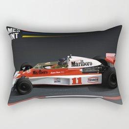 James Hunt McLaren F1    Car   Automotive   Formula One Rectangular Pillow