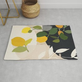Lemon Abstract Art Rug
