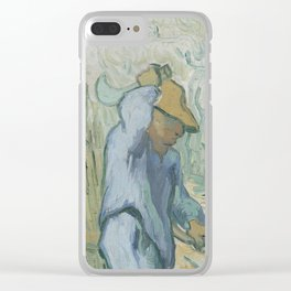 The Woodcutter (after Millet) Clear iPhone Case