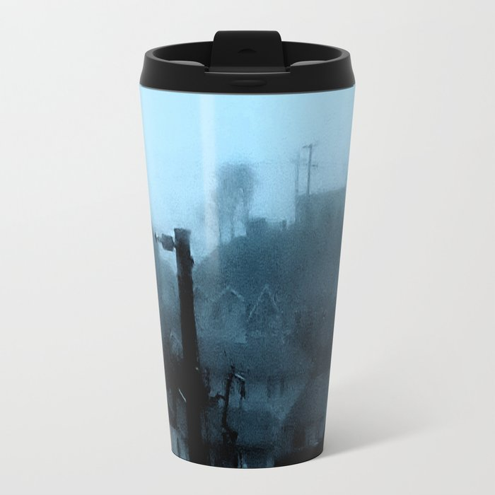 Strange Night: Ghost Light Metal Travel Mug