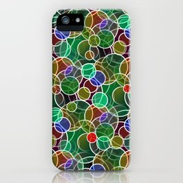 Psychedelic Circles iPhone Case