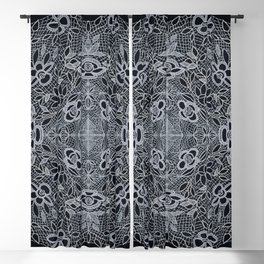 Crocheted Lace Mandala Blackout Curtain