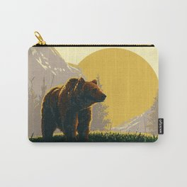 Early Morning Grizzly Bear Carry-All Pouch