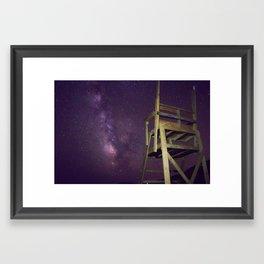 Stars over the Shore Framed Art Print
