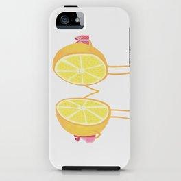 Halves of the orange iPhone Case