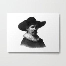 Man in a hat 1 Metal Print