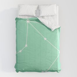 Libra (White & Mint Sign) Comforters