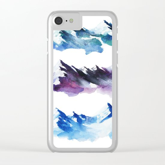 Three mountains Clear iPhone Case