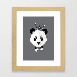 King Panda Framed Art Print