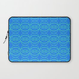 Ancient Chinese Money Stock Geo Pattern Turquoise x Blue II Laptop Sleeve